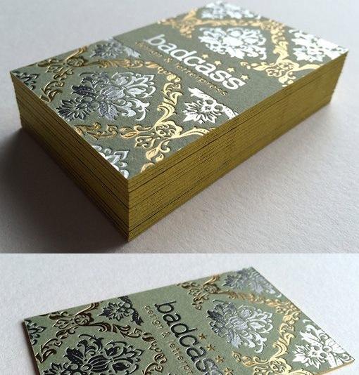 Горячее тиснение золотом и серебром